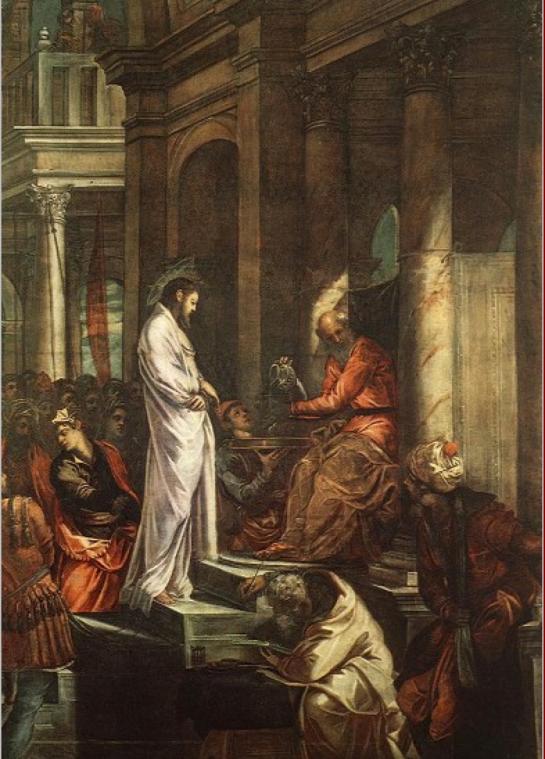 Christ before Pilate, Tintoretto, Scuola de San Rocco, Venice, 1565-67